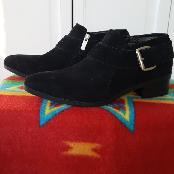 Bella Vita Shoes - Bella Vita Black Suede (Leather) Booties